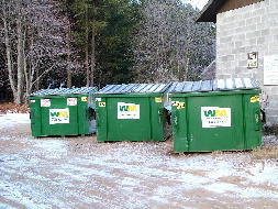 Dumpsters are available to members who have paid the dumpster fee - Courtesy of Don Desautels